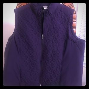 Sporty quilted vest in Purple, by Just My Size- 3x